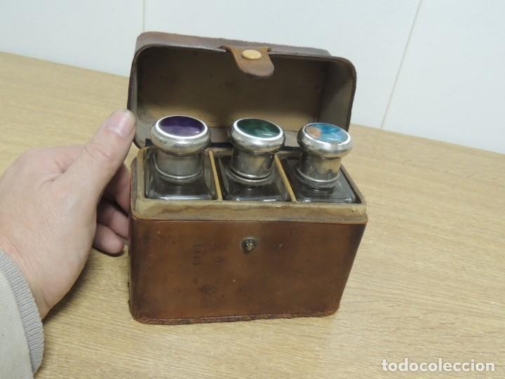 Antigüedades: perfumeros en estuche G.G - Foto 13 - 146692402