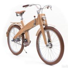 Antigüedades: BICICLETA DE MADERA. DE COLECCIÓN. MUD CYCLES. NUMERADA Y CERTIFICADA. ESPECTACULAR. Lote 146742417