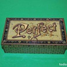 Antigüedades: ANTIGUA IMPRENTA PERFECT - CAJA DE METAL - TAMPÓN Y TINTA. Lote 146878314