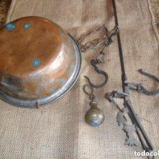 Antigüedades: ROMANA DE HIERRO Y BRONCE SIGLO XIX. Lote 146957038
