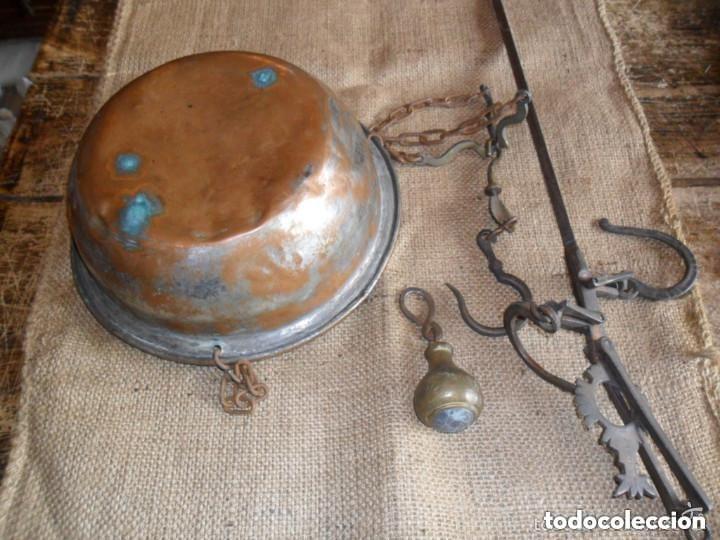 Antigüedades: ROMANA DE HIERRO Y BRONCE SIGLO XIX - Foto 5 - 146957038