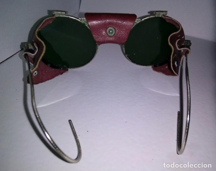 Antigüedades: Antiguas gafas montañismo,alpinismo,steampunk marca Julbo modelo Vermont,en buen estado. - Foto 8 - 146958462