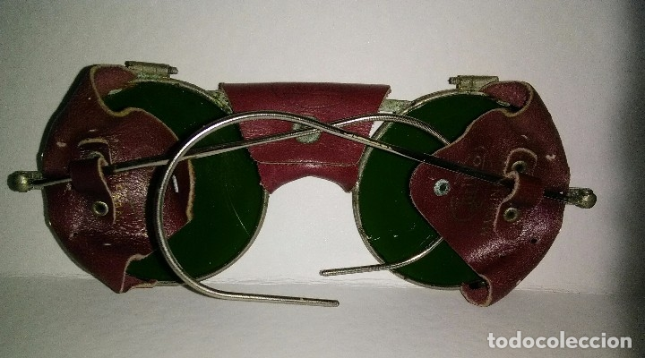 Antigüedades: Antiguas gafas montañismo,alpinismo,steampunk marca Julbo modelo Vermont,en buen estado. - Foto 13 - 146958462