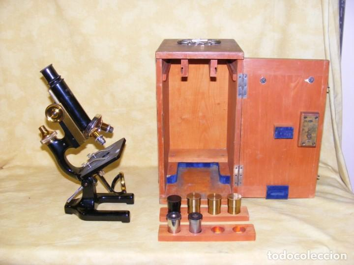 MICROSCOPIO STIASSNIE (Antigüedades - Técnicas - Instrumentos Ópticos - Microscopios Antiguos)