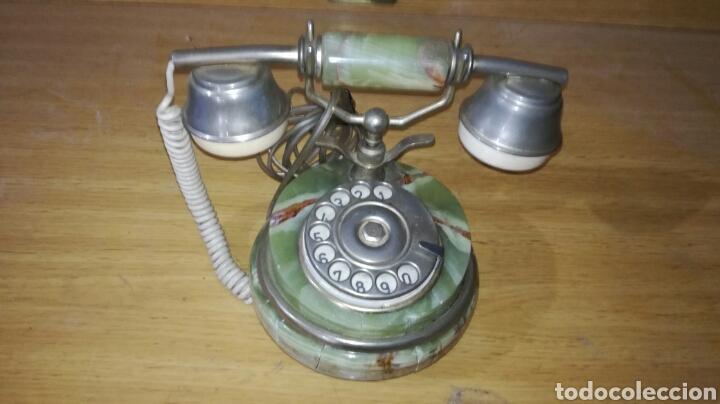 TELÉFONO DE MÁRMOL MUY BONITO (Antigüedades - Técnicas - Teléfonos Antiguos)