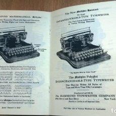 Antigüedades: INSTRUCCIONES MÁQUINA DE ESCRIBIR-**THE MULTIPLEX HAMMOND TYPEWRITER **(EN INGLÉS) ---FAC-SIMIL. Lote 148448528