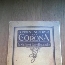 Antigüedades: INSTRUCCIONES MÁQUINA DE ESCRIBIR-**CORONA-3-TYPEWRITER**(EN FRANCÉS) ---FAC-SIMIL. Lote 147000022