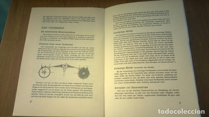 Antigüedades: Instrucciones Máquina de escribir-**CONTINENTAL**(en ALEMAN) ---FAC-SIMIL - Foto 3 - 147007690