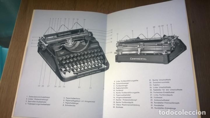 Antigüedades: Instrucciones Máquina de escribir-**CONTINENTAL**(en ALEMAN) ---FAC-SIMIL - Foto 4 - 147007690