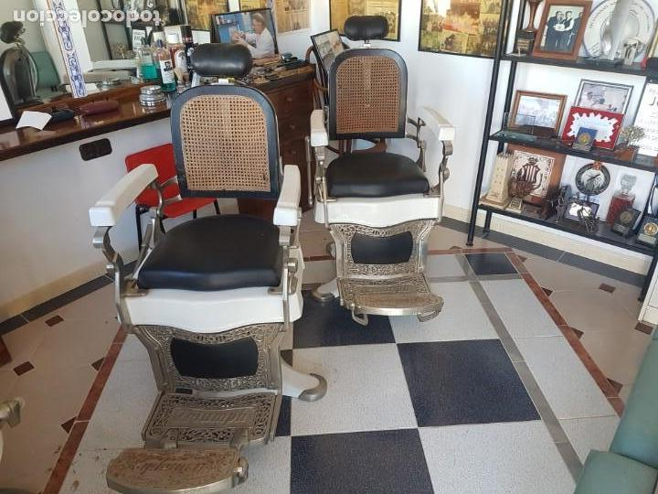 Antigüedades: Sillónes de barbero TRIUMPH - Foto 4 - 147136062