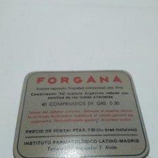 Antigüedades: CAJA PEQUEÑA DE METAL. FORGANA. S.XX. 5'5X6'5CM. Lote 147140034