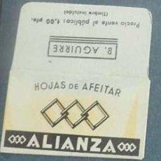 Antiguidades: FUNDA DE HOJA DE AFEITAR ALIANZA MUY RARA, RAZOR BLADE, LAMETTA DA BARBA, ENVOLTORIO, LA FOTOGRAFIA. Lote 147156030
