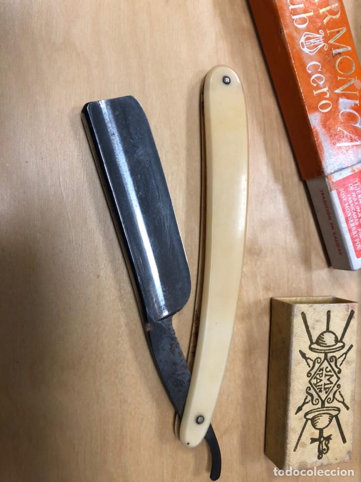 Antigüedades: Antigua navaja de afeitar. Filarmonica banderillas madellon taurino. - Foto 4 - 147156124