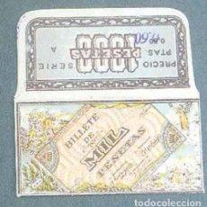 Antigüedades: FUNDA DE HOJA DE AFEITAR MIL PESETAS MUY RARA, RAZOR BLADE, LAMETTA DA BARBA, ENVOLTORIO, LA FOTOGR. Lote 147163270