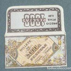Antigüedades: FUNDA DE HOJA DE AFEITAR MIL PESETAS MUY RARA, RAZOR BLADE, LAMETTA DA BARBA, ENVOLTORIO, LA FOTOGR. Lote 147163334