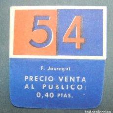 Antigüedades: FUNDA DE HOJA DE AFEITAR 54 MUY RARA, RAZOR BLADE, LAMETTA DA BARBA, ENVOLTORIO, LA FOTOGRAFIA TOMA. Lote 147163622