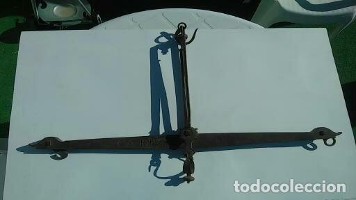 BALANZA SIGLO XVIII PEDRO FABRE CADIZ DE 1777 (Antigüedades - Técnicas - Cerrajería y Forja - Forjas Antiguas)