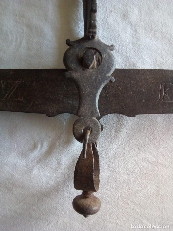 Antigüedades: Balanza siglo XVIII Pedro Fabre Cadiz de 1777 - Foto 4 - 147168802