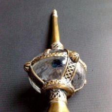 Antigüedades: PERFUMEO-ALCUZA ARABE CON INCRUSTACIÓNES DE METAL REPUJADO EN DORADO,DESMONTABLE (DESCRIPCIÓN). Lote 153292240