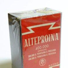 Antigüedades: 1956 - PENICILINA - ALTEPROINA - EN PERFECTO ESTADO - SIN DESPRECINTAR / CON CELOFÁN DE ORIGEN. Lote 147208214