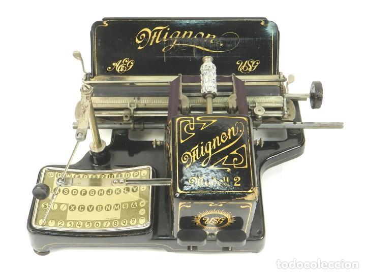 MAQUINA DE ESCRIBIR MIGNON Nº2 AÑO 1905 TYPEWRITER SCHREIBMASCHINE (Antigüedades - Técnicas - Máquinas de Escribir Antiguas - Mignon)