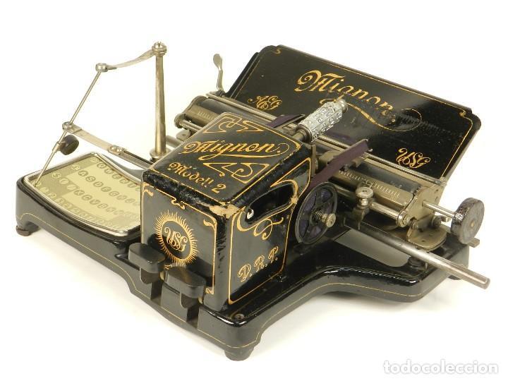 Antigüedades: MAQUINA DE ESCRIBIR MIGNON Nº2 AÑO 1905 TYPEWRITER SCHREIBMASCHINE - Foto 3 - 147249874