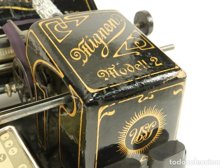 Antigüedades: MAQUINA DE ESCRIBIR MIGNON Nº2 AÑO 1905 TYPEWRITER SCHREIBMASCHINE - Foto 6 - 147249874