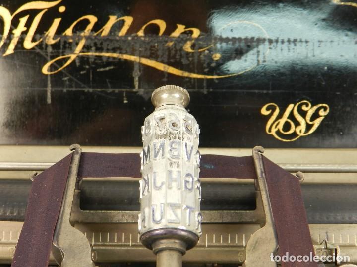 Antigüedades: MAQUINA DE ESCRIBIR MIGNON Nº2 AÑO 1905 TYPEWRITER SCHREIBMASCHINE - Foto 8 - 147249874