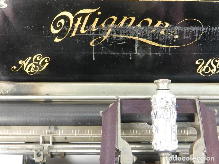 Antigüedades: MAQUINA DE ESCRIBIR MIGNON Nº2 AÑO 1905 TYPEWRITER SCHREIBMASCHINE - Foto 9 - 147249874