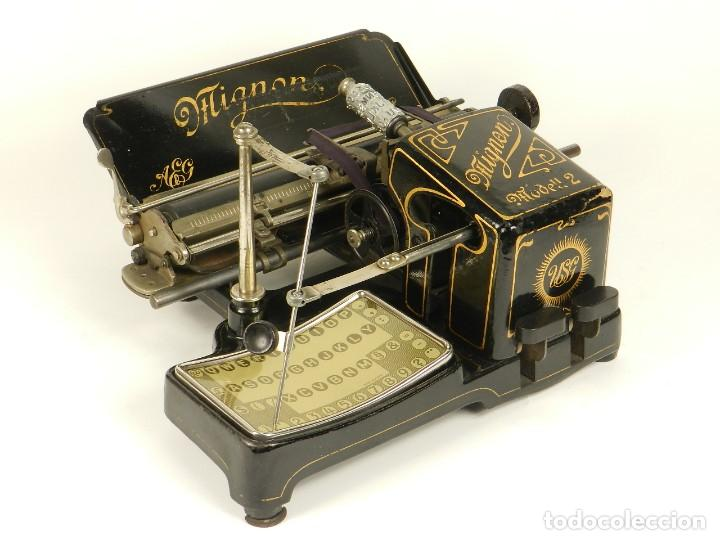 Antigüedades: MAQUINA DE ESCRIBIR MIGNON Nº2 AÑO 1905 TYPEWRITER SCHREIBMASCHINE - Foto 10 - 147249874