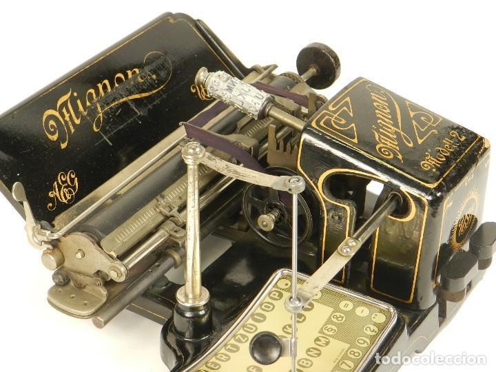 Antigüedades: MAQUINA DE ESCRIBIR MIGNON Nº2 AÑO 1905 TYPEWRITER SCHREIBMASCHINE - Foto 11 - 147249874