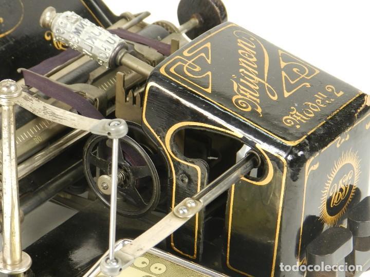 Antigüedades: MAQUINA DE ESCRIBIR MIGNON Nº2 AÑO 1905 TYPEWRITER SCHREIBMASCHINE - Foto 12 - 147249874