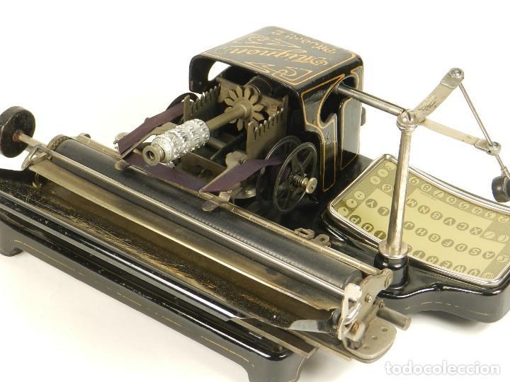 Antigüedades: MAQUINA DE ESCRIBIR MIGNON Nº2 AÑO 1905 TYPEWRITER SCHREIBMASCHINE - Foto 13 - 147249874