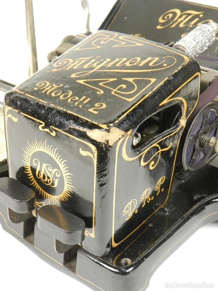 Antigüedades: MAQUINA DE ESCRIBIR MIGNON Nº2 AÑO 1905 TYPEWRITER SCHREIBMASCHINE - Foto 15 - 147249874