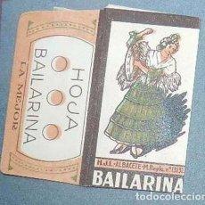 Antigüedades: FUNDA DE HOJA DE AFEITAR BAILARINA MUY RARA, RAZOR BLADE, LAMETTA DA BARBA, ENVOLTORIO, LA FOTOGRAF. Lote 147308038