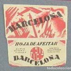 Antigüedades: FUNDA DE HOJA DE AFEITAR BARCELONA MUY RARA, RAZOR BLADE, LAMETTA DA BARBA, ENVOLTORIO, LA FOTOGRAF. Lote 147308582