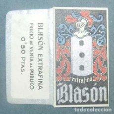 Antigüedades: FUNDA DE HOJA DE AFEITAR BLASON EXTRAFINA MUY RARA, RAZOR BLADE, LAMETTA DA BARBA, ENVOLTORIO, LA FO. Lote 147312306