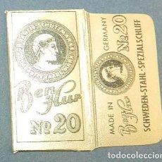Antigüedades: FUNDA DE HOJA DE AFEITAR BEN HUR Nº 20, MUY RARA, RAZOR BLADE, LAMETTA DA BARBA, ENVOLTORIO, LA FOTO. Lote 147314474