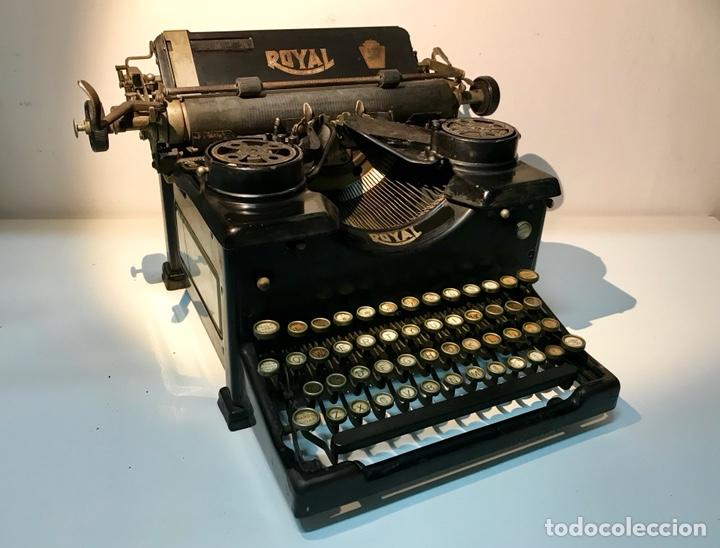 ANTIGUA MÁQUINA DE ESCRIBIR ROYAL, TRUST MECANOGRÁFICO DE MADRID. 1923-24 APROX. (Antigüedades - Técnicas - Máquinas de Escribir Antiguas - Royal)