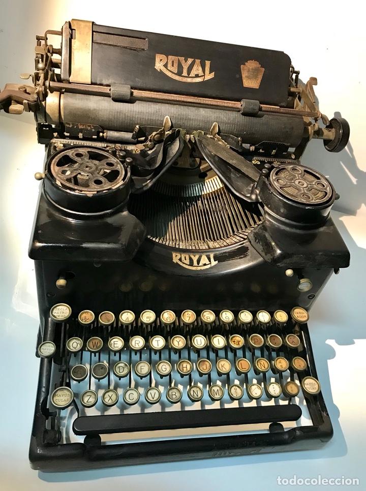 Antigüedades: Antigua máquina de escribir Royal, Trust mecanográfico de Madrid. 1923-24 aprox. - Foto 2 - 147318354