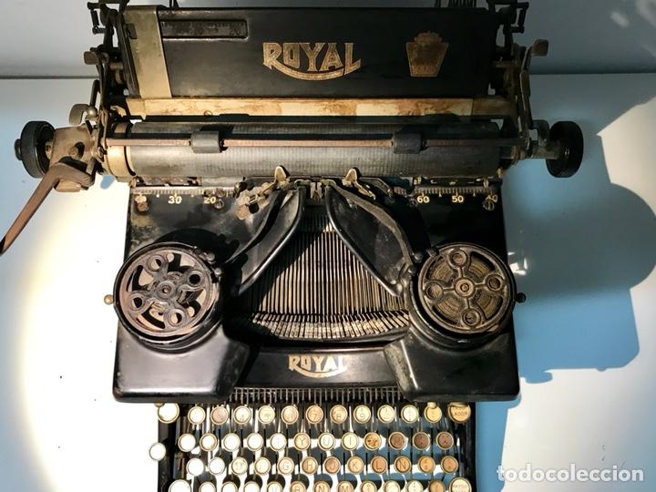 Antigüedades: Antigua máquina de escribir Royal, Trust mecanográfico de Madrid. 1923-24 aprox. - Foto 7 - 147318354