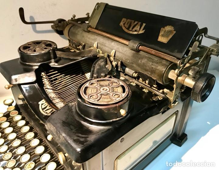 Antigüedades: Antigua máquina de escribir Royal, Trust mecanográfico de Madrid. 1923-24 aprox. - Foto 14 - 147318354