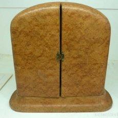 Antiquitäten - ANTIGUO NECESER PIEL Y ACCESORIOS MANGO PLATA SIGLO XIX - 147340010
