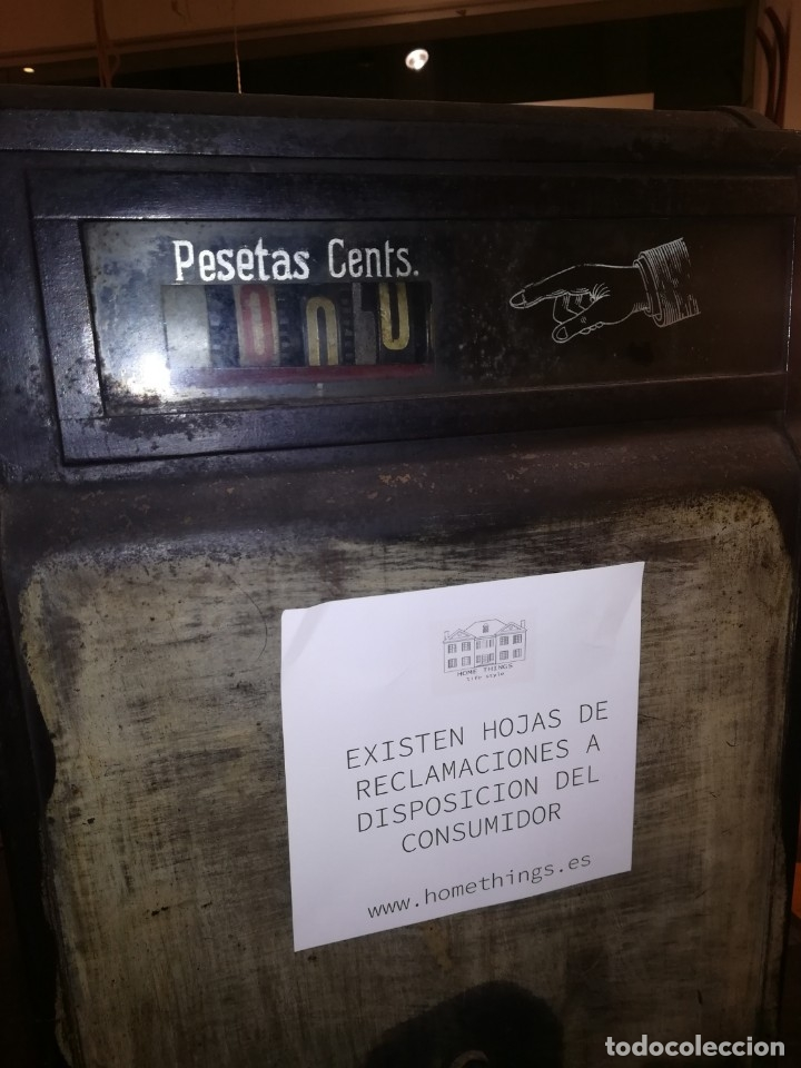Antigüedades: CAJA REGISTRADORA NATIONAL, FABRICADA PARA ESPAÑA, HASTA 999,90 PESETAS. FUNCIONANDO - Foto 8 - 41027796