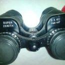 Antigüedades: PRISMÁTICOS SUPER ZENITH 8 X 40 - CON FUNDA DE CUERO. Lote 147399878