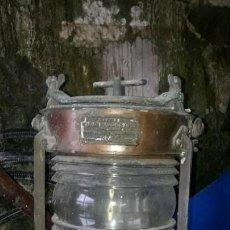 Antigüedades: FARO FAROLA O LAMPARA DE BARCO.WILLIAM HARVIE. Lote 146042634