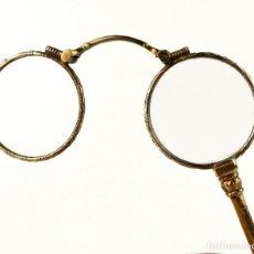 Antiquités: ANTIGUOS IMPERTINENTES PLEGABLES BAÑO DE ORO BAJO - FINALES S.XIX PRINCIPIOS S.XX. Lote 147472630