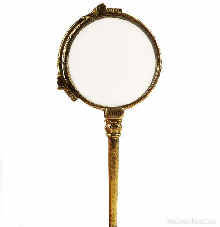 Antigüedades: Antiguos impertinentes plegables baño de oro bajo - Finales S.XIX principios S.XX - Foto 11 - 147472630