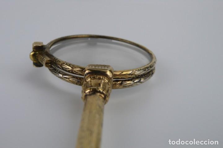 Antigüedades: Antiguos impertinentes plegables baño de oro bajo - Finales S.XIX principios S.XX - Foto 12 - 147472630