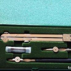 Antigüedades: CAJA DE COMPAS Y TIRALINEAS KIM AÑOS 70 A ESTRENAR. ORIGINAL KIN DRAWING SETS COMPASSES. Lote 147526098